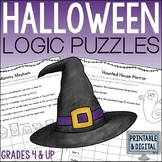 Halloween Math Logic Puzzles for Grades 4 and up
