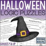 Halloween Math Logic Puzzles {Halloween Activities for Gra