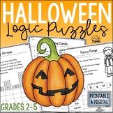 Halloween Math Logic Puzzles {Halloween Activities for Grades 2-4}