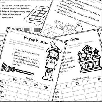 Halloween Math Logic Puzzles {Halloween Activities for Grades 2-4}