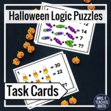 Halloween Math Logic Puzzles Task Cards