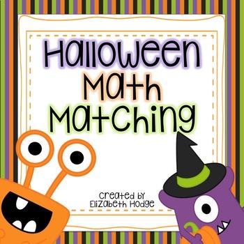 Halloween Math Matching Cards