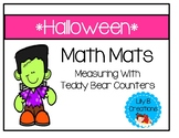Halloween Math Mats - Measuring With Teddy Bear Counters