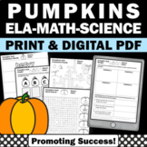 Pumpkin Math Worksheets, Measuring Pumpkins, Halloween Activities Math