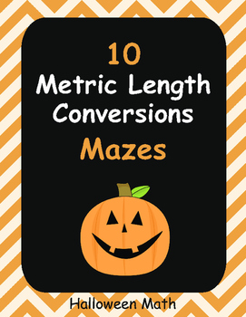 Halloween Math: Metric Length Conversions Maze