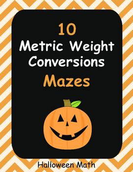 Halloween Math: Metric Weight Conversions Maze
