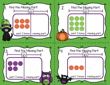Halloween Math Missing Addend - Find the Missing Part