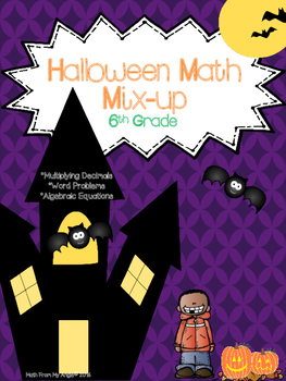 Halloween Math Mix-Up:  6th Grade