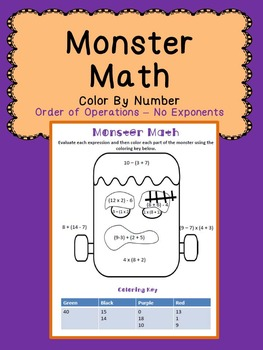 Halloween Math: Order of Operations