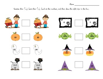 Halloween Math More or Less