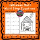 Halloween Fall Multi Step Equations Bundle Maze & Color by Number Coloring Page