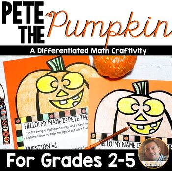Halloween Math: Multi-Step Word Problem Craftivity for Grades 2-5