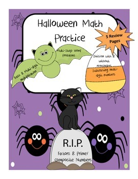 Halloween Math: Multiplication, Division, Factors, Multi-Step Word Problems