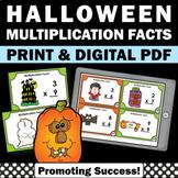 3rd Grade Halloween Math Activities, Multiplication Facts Task Cards SCOOT