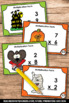 Halloween Math Games & Activities Multiplication Facts Task Cards