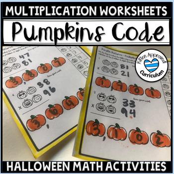 Halloween Math Multiplication Worksheet Pumpkin Patterns