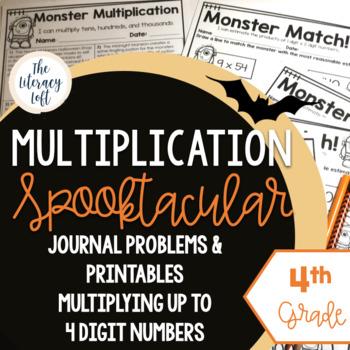 Halloween Math {Multiplication for 4th Grade}