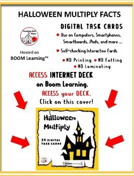 Halloween Math Multiply ... Facts ... Grade 3 .... Internet Paperless Digital