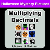 Halloween Math: Multiplying Decimals - Color-By-Number Mystery Pictures