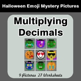 Halloween Math: Multiplying Decimals - Color-By-Number Mys