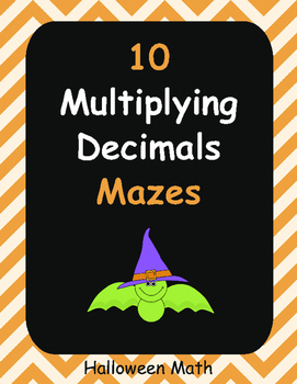 Halloween Math: Multiplying Decimals Maze