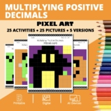 Halloween Math: Multiplying Decimals Pixel Art Mystery Pictures