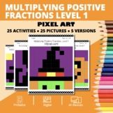 Halloween Math: Multiplying Positive Fractions Lvl 1 Pixel
