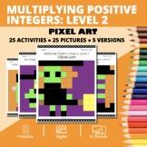 Halloween Math: Multiplying Positive Integers Lvl 2 Pixel