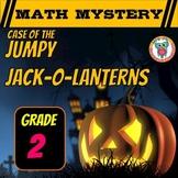 Halloween Math Mystery - 2nd Grade Math Spiral Review (Jumpy Jack-O-Lanterns)