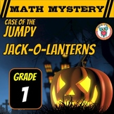 Halloween Math Mystery Activity - 1st Grade - Jumpy Jack-O-Lanterns