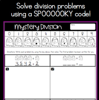 Halloween Math: Mystery Division