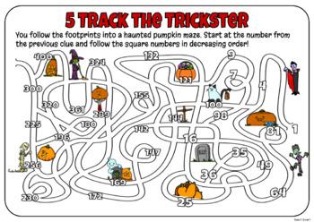 Halloween Math Mystery Grade 5
