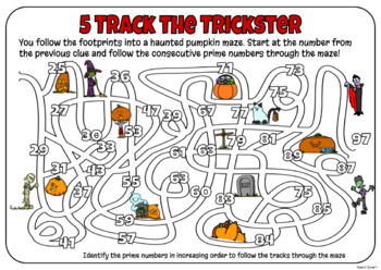 Halloween Math Mystery Grade 4