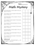 Halloween Math Mystery- Numbers to 1000 Place Value Activity
