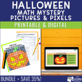 Halloween Math Mystery Pictures | Multiplication, Division, Decimals
