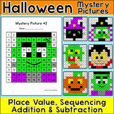 Halloween Math Hundreds Chart Color by Number Pictures - H