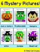 Halloween Math Hundreds Chart Color by Number: Zombie, Vam