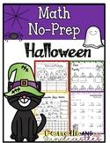 Halloween Math No-Prep