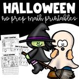 Halloween Math No Prep Printables