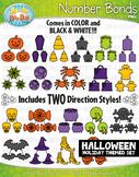 Halloween Math Number Bonds Clipart {Zip-A-Dee-Doo-Dah Designs}