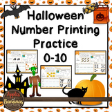 Halloween Math Number Printing Practice (0-10)