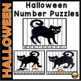 Halloween Math Number Puzzles Activities for Kindergarten