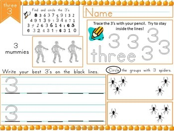 Halloween Math Number Super Bundle for Pre-K and Kindergarten