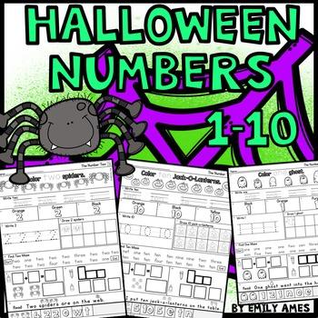 Halloween Math: Numbers 1-10