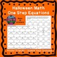 Halloween Math Color by Number Solving One Step Equations Fall Activities
