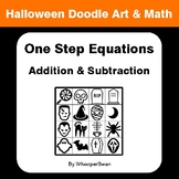 Halloween Math: One Step Equations: Addition & Subtraction  - Doodle Art & Math