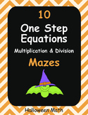 Halloween Math: One Step Equations Maze (Multiplication & Division)
