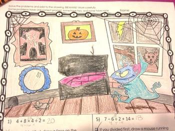 Halloween Math Order of Operations