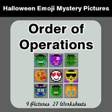 Halloween Math: Order of Operations - Color-By-Number Myst