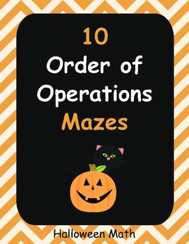 Halloween Math: Order of Operations Maze